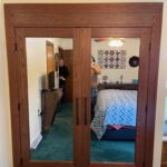 Mirror installation on Closet Doors
