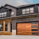 Skyline Flush in Cedar Woodtone Garage Door