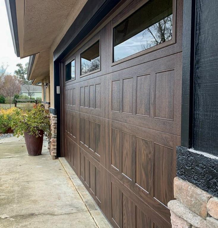 Stamped Shaker Garage Door